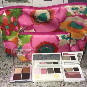 Clinique eye shadow & makeup bags
